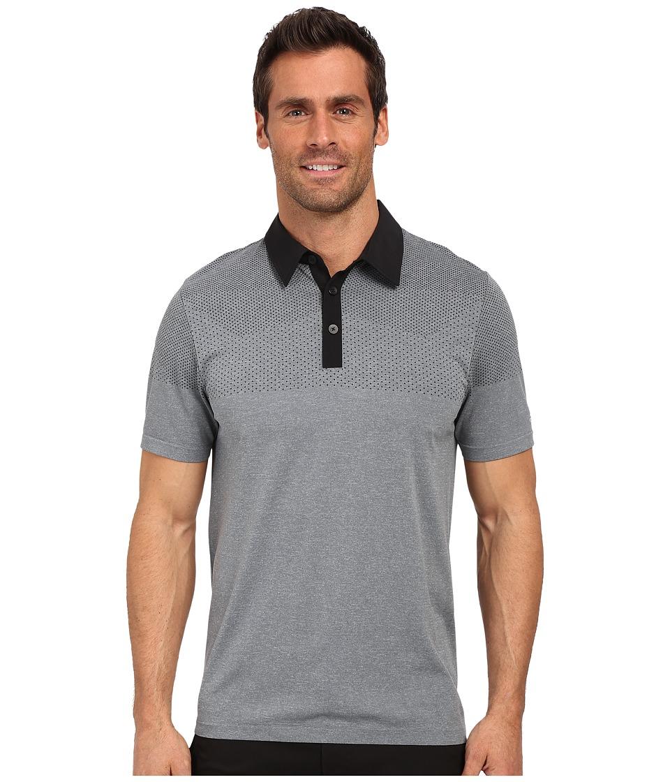 adidas Golf CLIMACOOL Primeknit Polo Black/Vista Grey Mens Short Sleeve Button Up