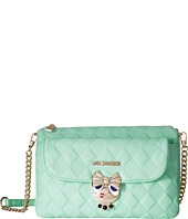 LOVE Moschino - Updated Small Quilted Crossbody Bag with Love Girl Clasp