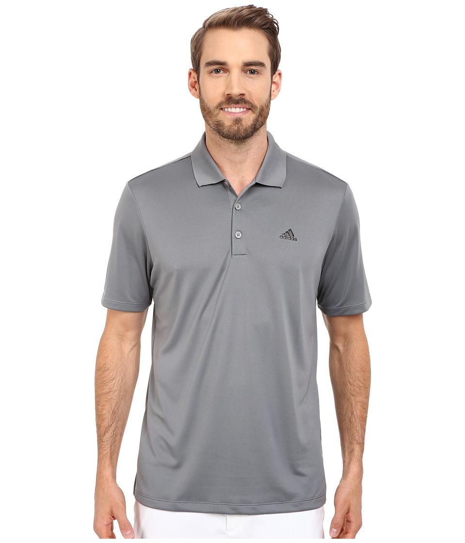 adidas Golf Branded Performance Polo Vista Grey Mens Short Sleeve Pullover