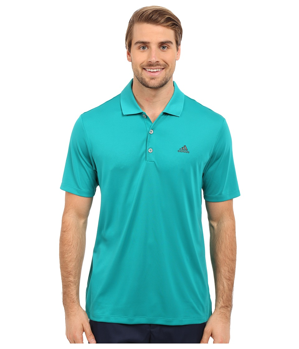 adidas Golf Branded Performance Polo EQT Green Mens Short Sleeve Pullover