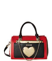 LOVE Moschino - Two-Tone Heart Chained Handbag