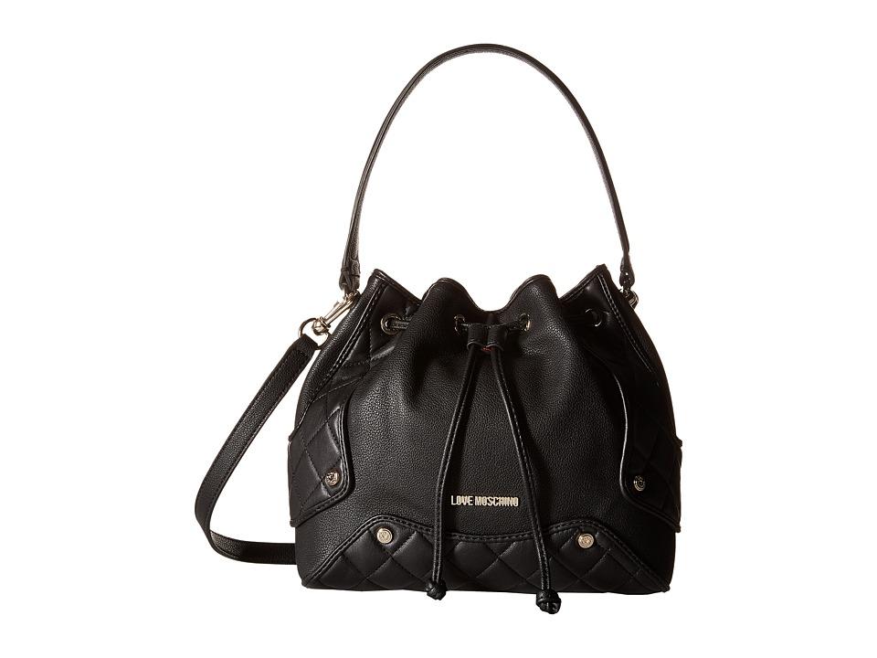 LOVE Moschino - Small Duffel Bag (Black) Duffel Bags
