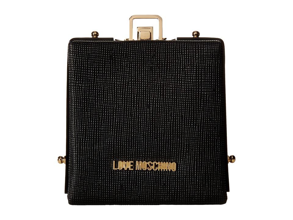 LOVE Moschino - Solid Evening Clutch (Black) Clutch Handbags