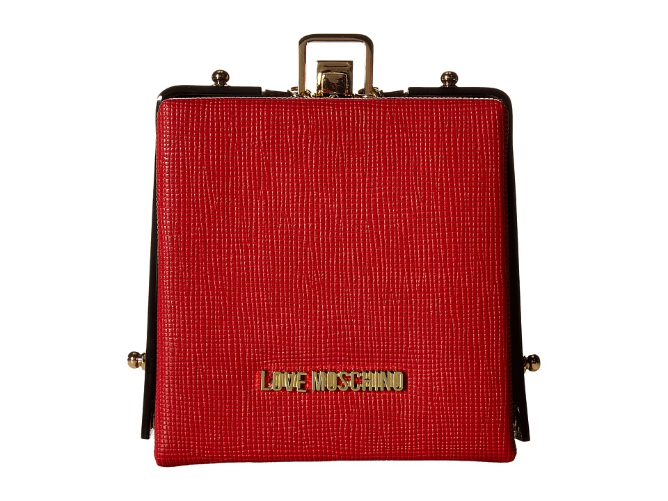 LOVE Moschino - Solid Evening Clutch (Red) Clutch Handbags