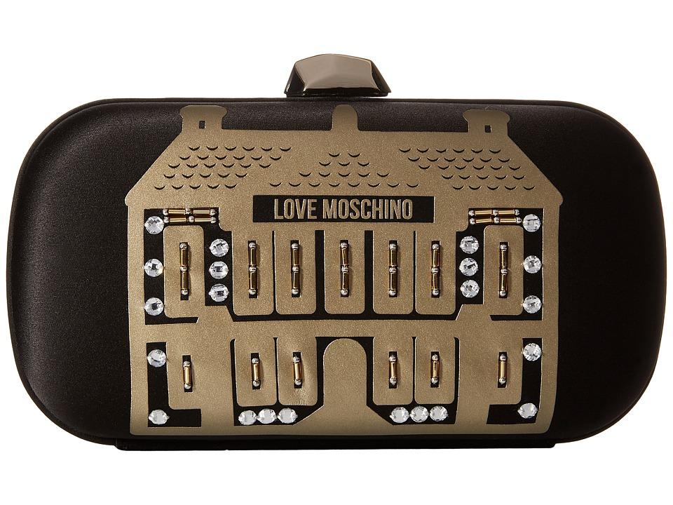 LOVE Moschino Evening Love Moschino Showroom Clutch Black Clutch Handbags
