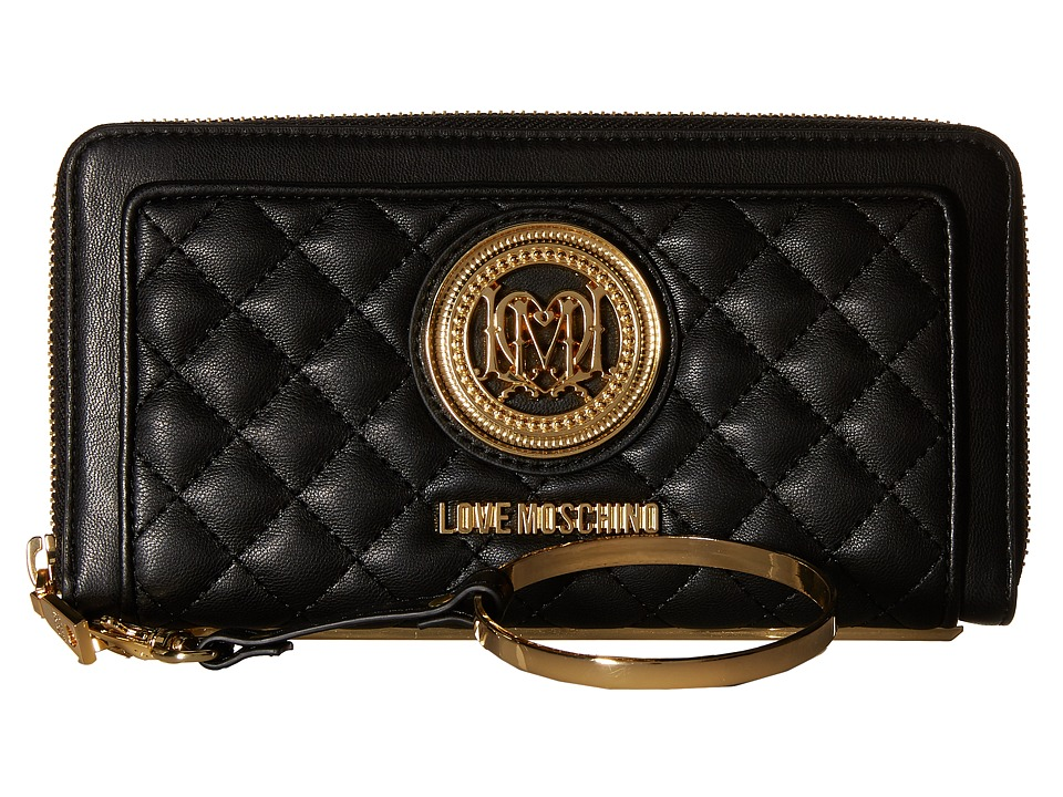 LOVE Moschino - Quilted Wrist Wallet (Black) Wallet Handbags