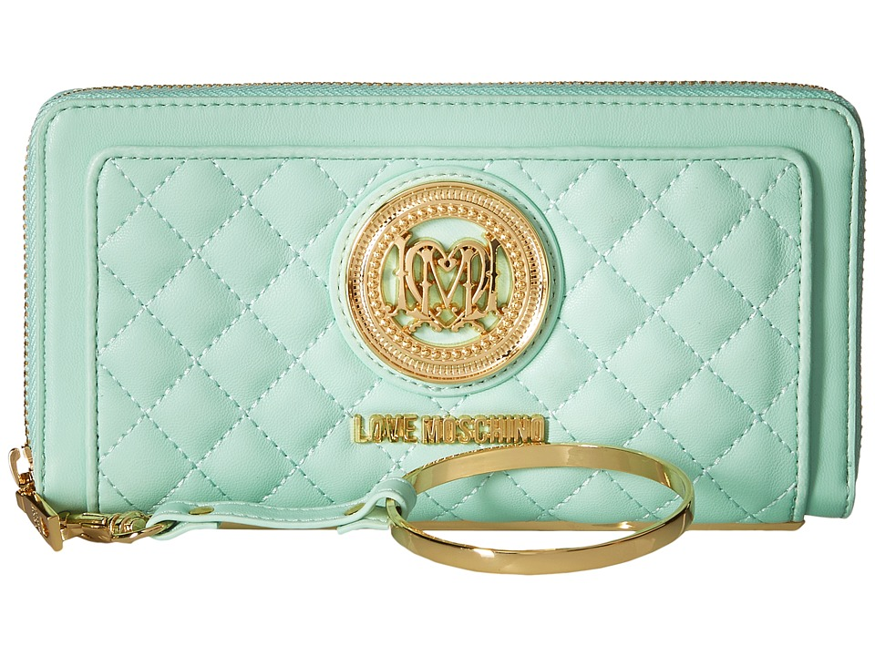 LOVE Moschino - Quilted Wrist Wallet (Mint) Wallet Handbags