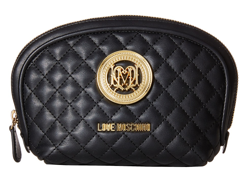 LOVE Moschino - Quilted Makeup Bag (Black) Handbags
