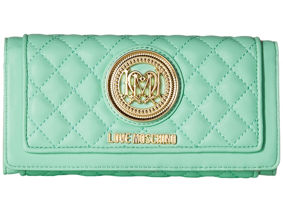 LOVE Moschino - Quilted Wallet (Mint) Wallet Handbags