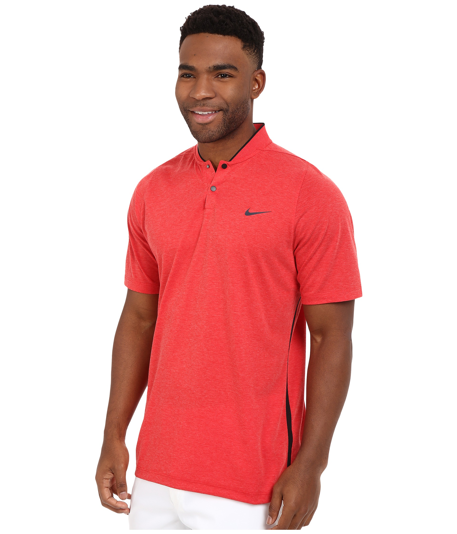 Nike golf tiger woods velocity df cotton blade zappos for Nike cotton golf shirts