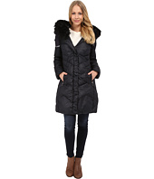T Tahari - Mia Faux Fur Trimmed with Ruffle