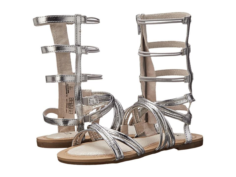 Stuart Weitzman Kids Camia Sparta Lo Little Kid/Big Kid Silver Girls Shoes