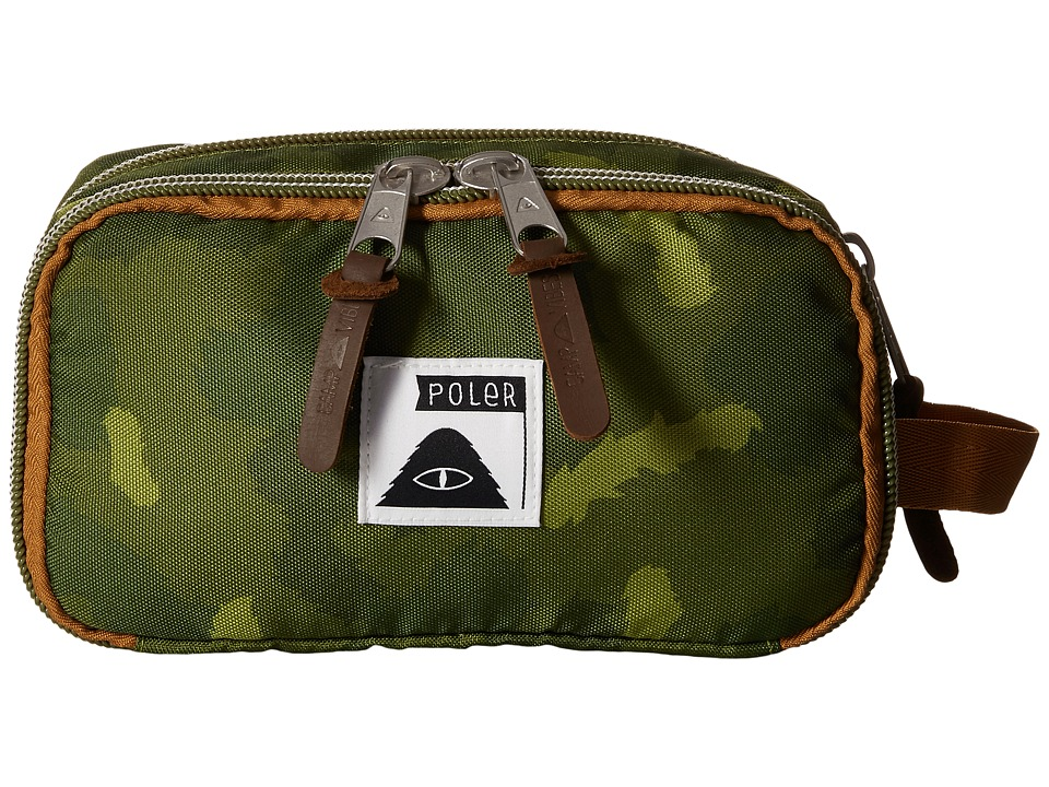 Poler Dope Dopp Travel Kit Toiletry Bag Green Camo Bags