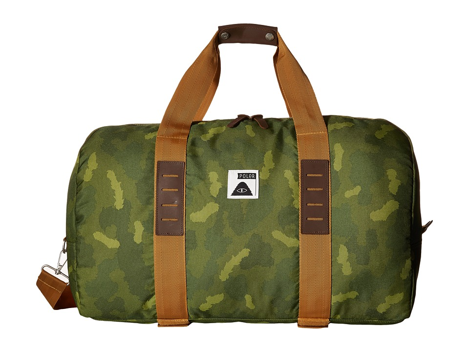 Poler Carry On Duffel Green Camo Duffel Bags