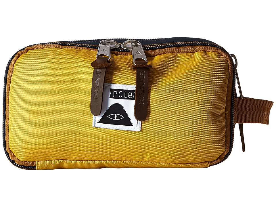 Poler Dope Dopp Travel Kit Toiletry Bag Golden Rod/Blue Steel Bags