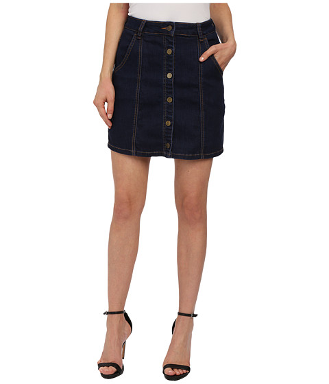 blank nyc denim skirt a line with buttons