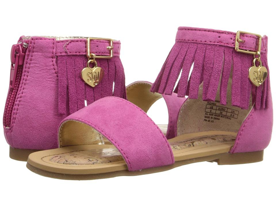 Stuart Weitzman Kids Camia Annafringe Toddler/Little Kid/Big Kid Fuchsia Girls Shoes