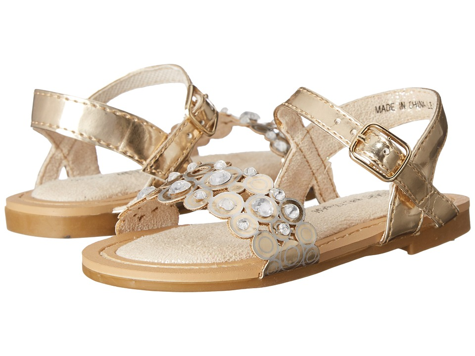 Stuart Weitzman Kids Camia Moonring Toddler/Little Kid/Big Kid Champagne Gold Metallic Girls Shoes