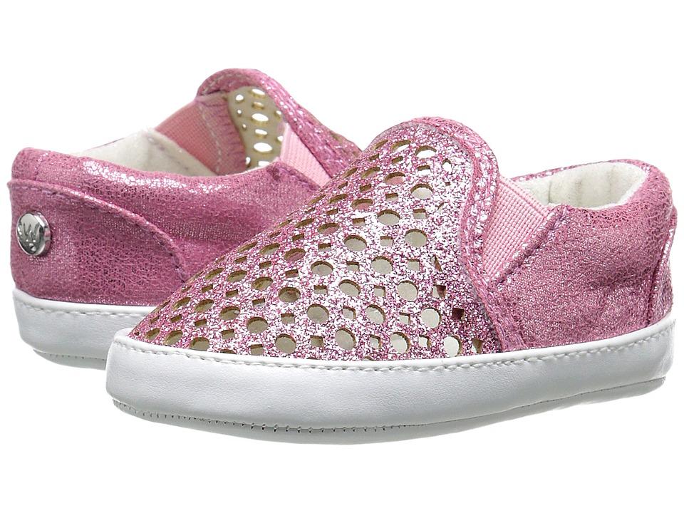 Stuart Weitzman Kids Baby Vance Slider Infant/Toddler Pink Glitter Girls Shoes