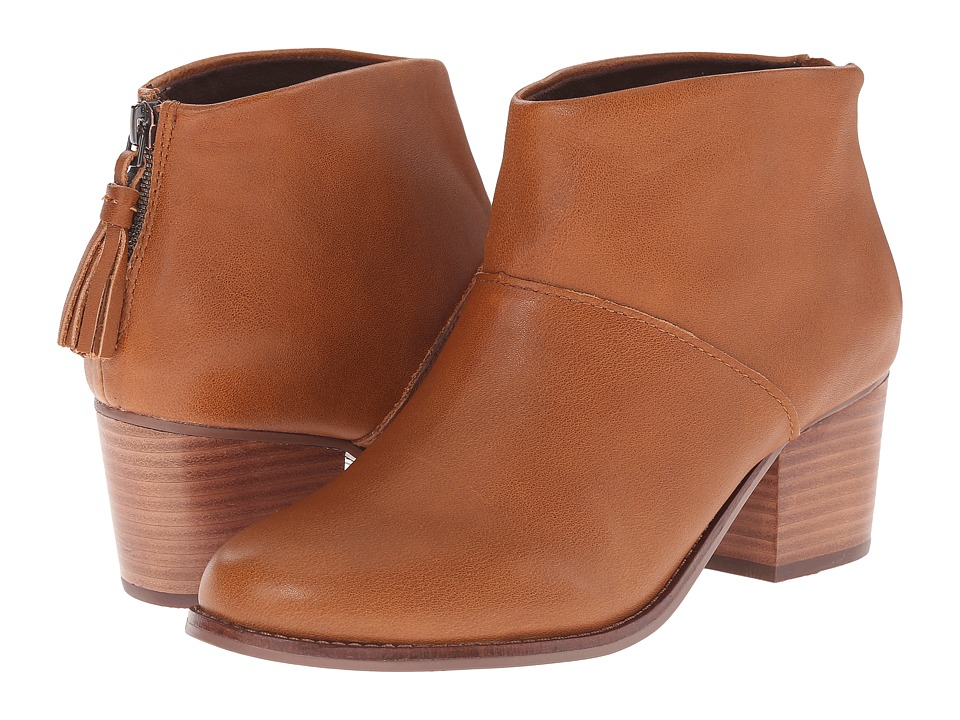 TOMS Leila Bootie (Warm Tan Leather) Women