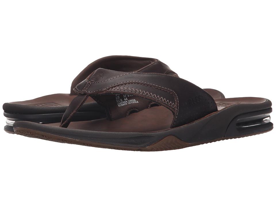 Reef Fanning Ultimate Dark Brown Mens Sandals