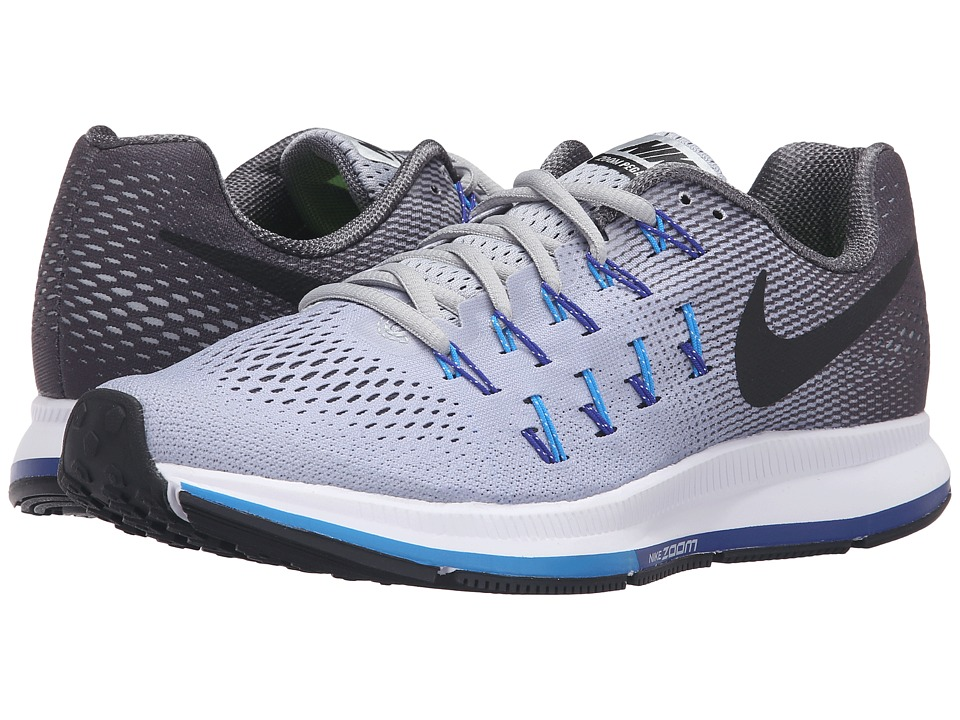 Nike - Air Zoom Pegasus 33 (Wolf Grey/Blue Glow/Concord/Black) Men