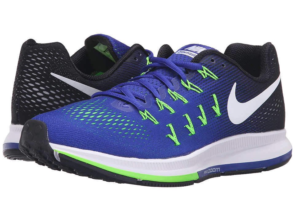 Nike - Air Zoom Pegasus 33 (Concord/Black/Electric Green/White) Men