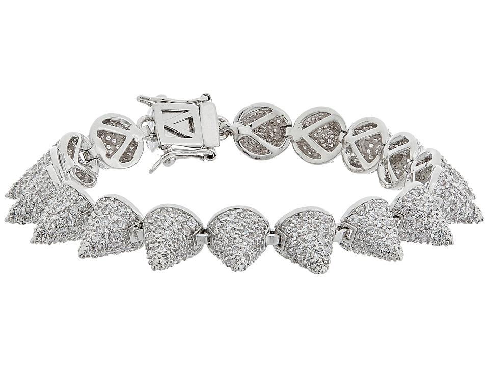 Eddie Borgo Pave Small 17 Cone Bracelet Silver Bracelet
