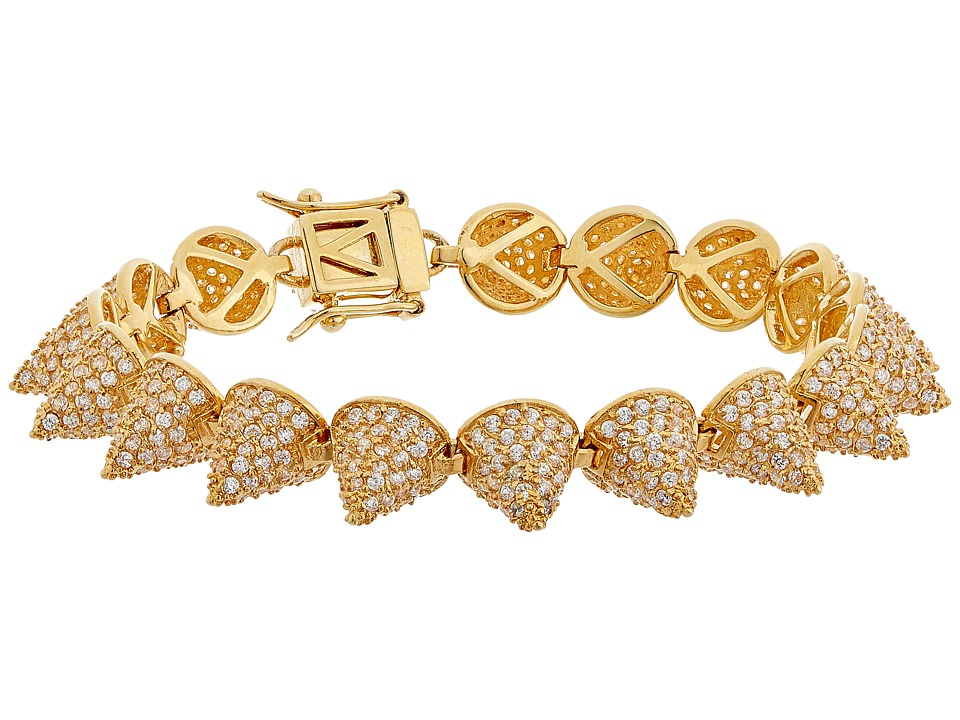 Eddie Borgo Pave Small 17 Cone Bracelet Gold Bracelet