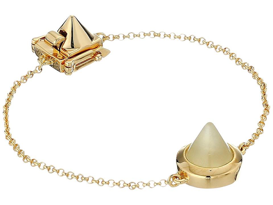 Eddie Borgo Gemstone One Cone Bracelet Gold Bracelet