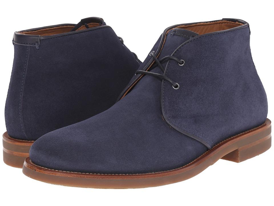 Aquatalia - Carlos Blue SuedeGum Bottom Mens Lace-up Boots $450.00 AT vintagedancer.com