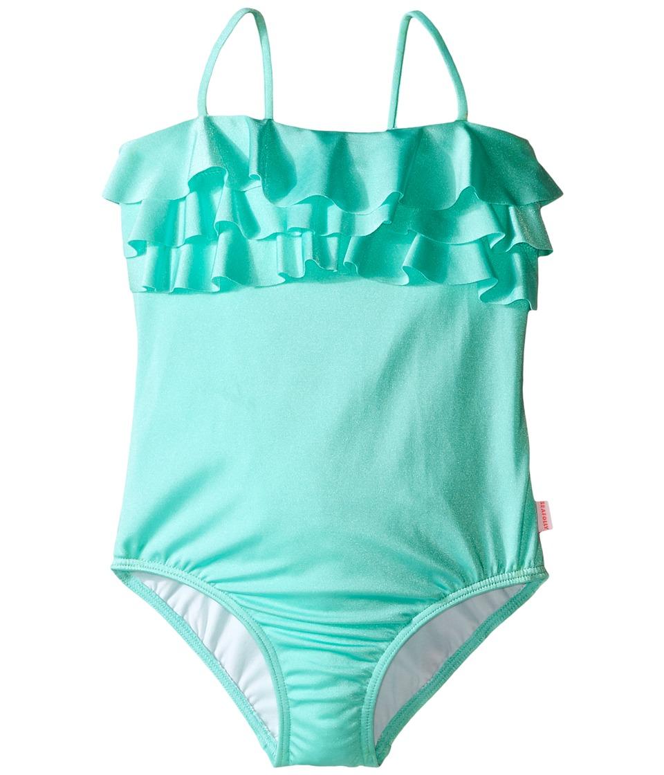 Seafolly Kids Memphis Meow Tube Tank Top Toddler/Little Kids Peppermint Girls Swimwear