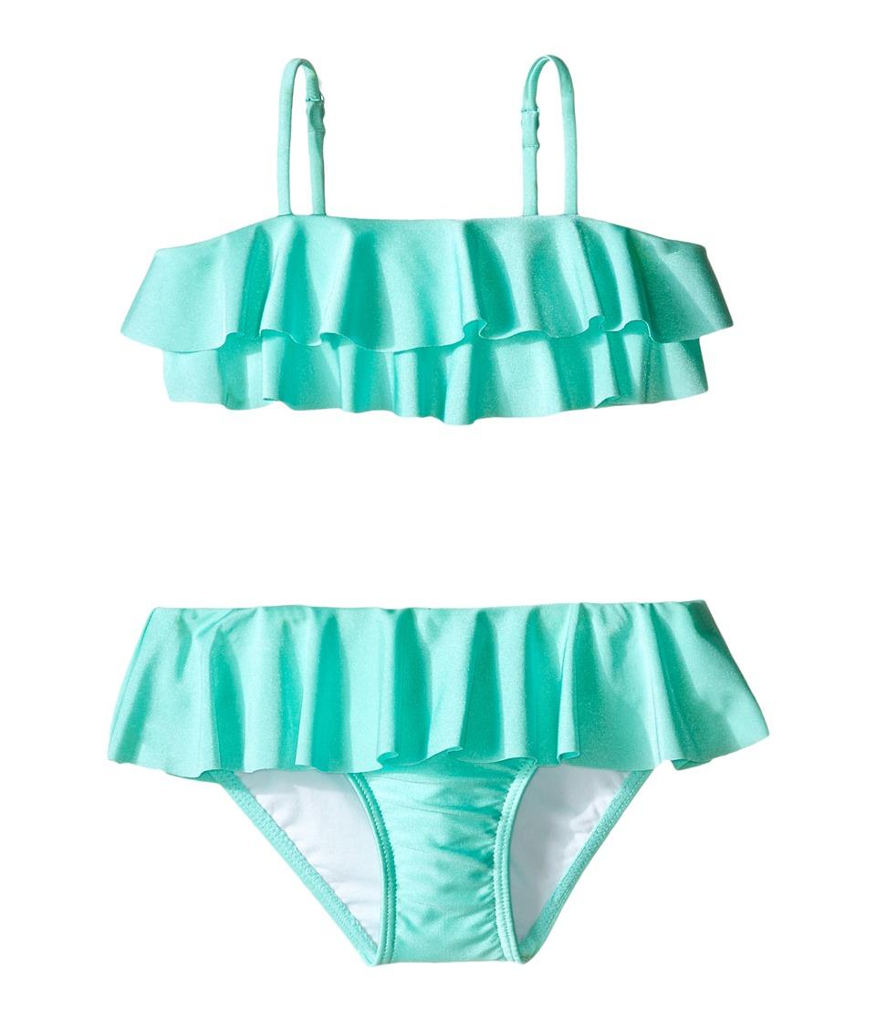 Seafolly Kids Memphis Meow Mini Tube Bikini Toddler/Little Kids Peppermint Girls Swimwear