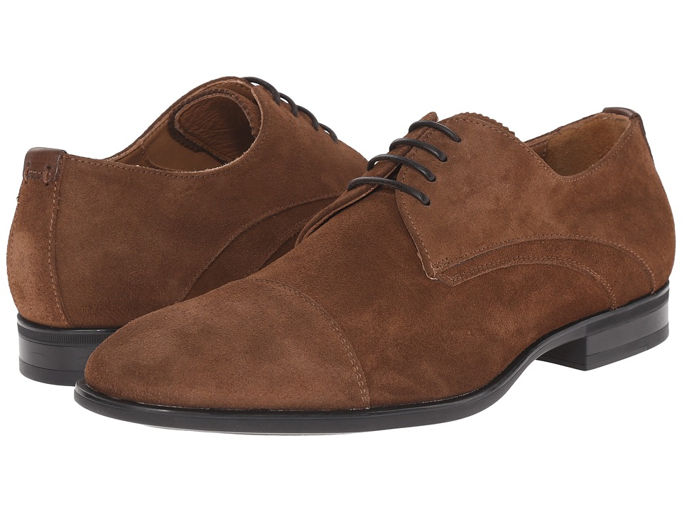 Aquatalia Abe Medium Brown Dress Suede Mens Lace up casual Shoes