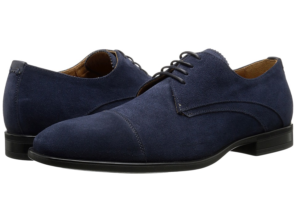 Aquatalia Abe Navy Dress Suede Mens Lace up casual Shoes