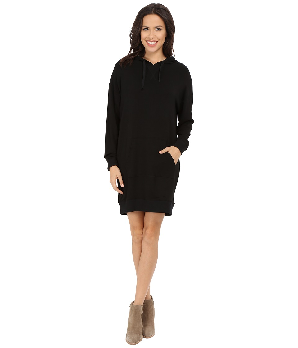 Culture Phit Eden Luxe French Terry Hoodie Dress (Black) Women