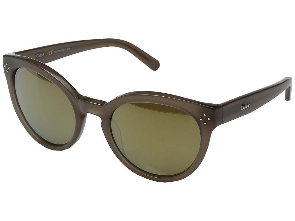 Chloe Boxwood Round Turtledove Fashion Sunglasses