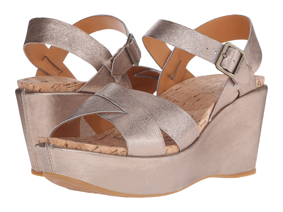 Kork Ease Ava 2.0 Soft Gold Womens Wedge Shoes