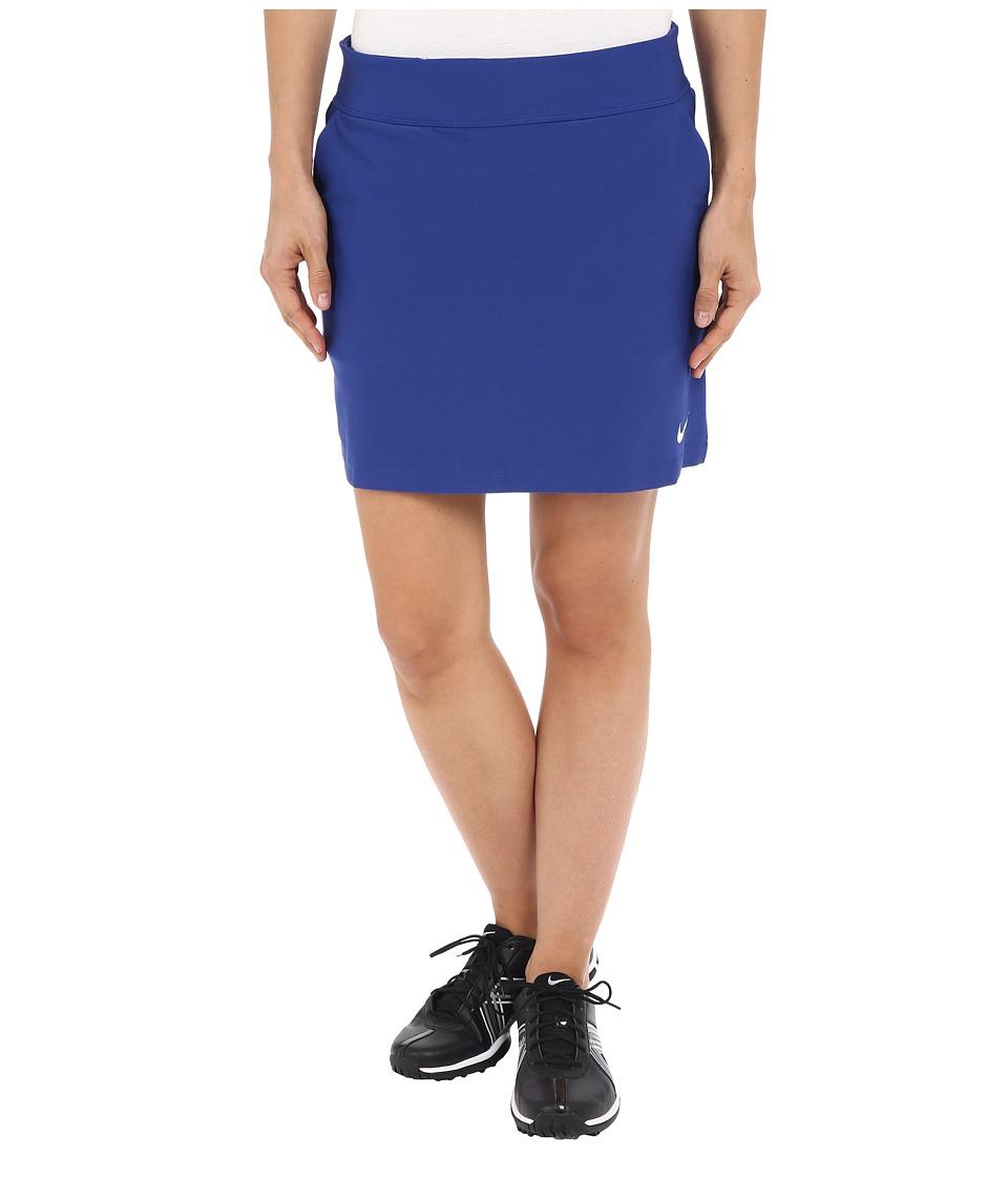 Nike Golf Tournament Knit Skort Deep Royal Blue/White Womens Skort