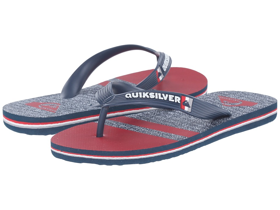Quiksilver Kids - Molokai Stomp (Toddler/Little Kid/Big Kid) (Blue/Red/Blue) Boys Shoes