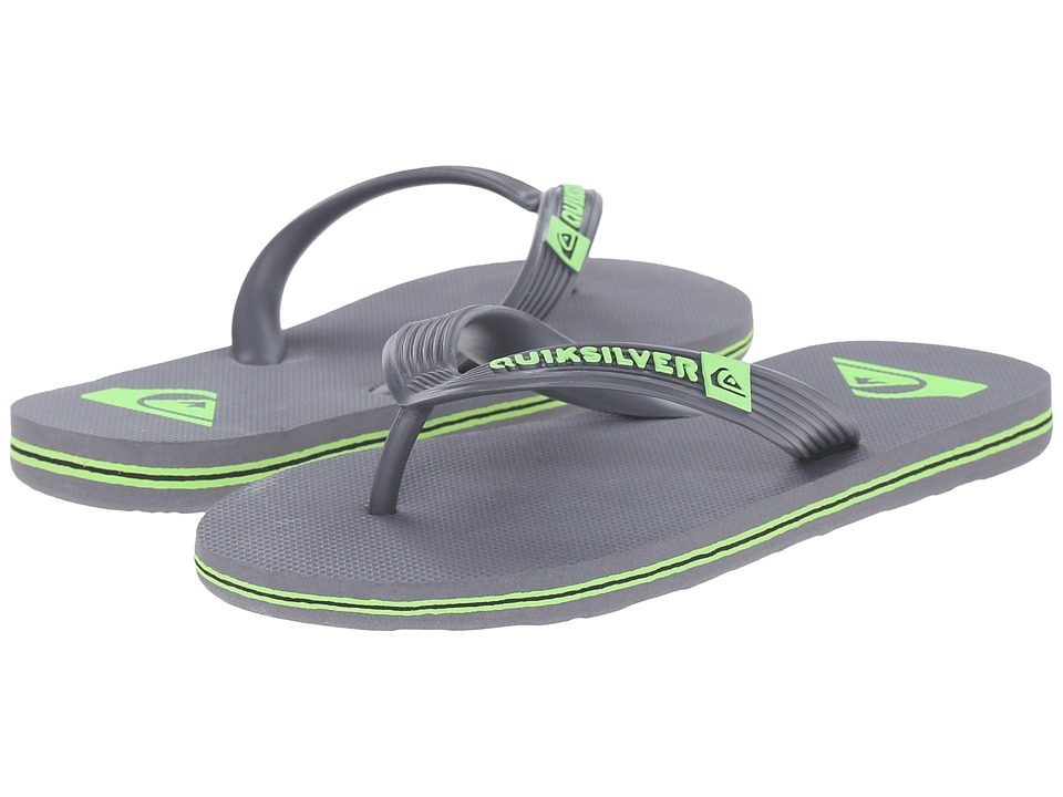 Quiksilver Kids - Molokai (Toddler/Little Kid/Big Kid) (Grey/Green/Grey) Boys Shoes