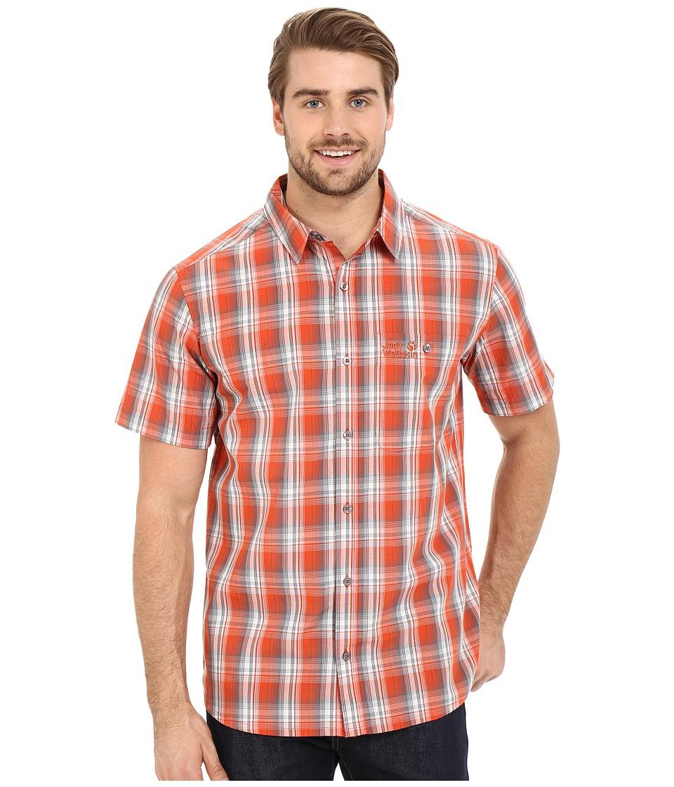 Jack Wolfskin Fairford Shirt Chili Checks Mens Clothing