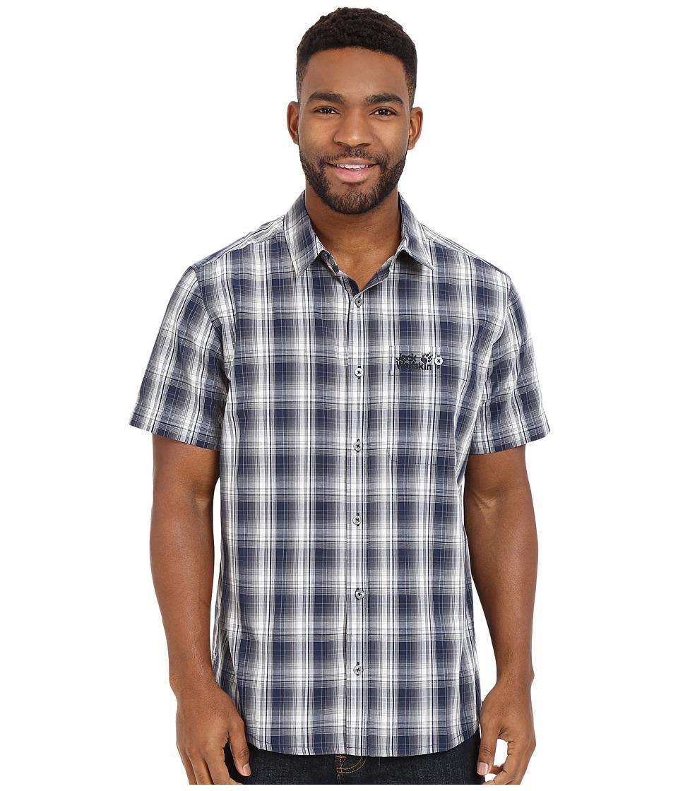Jack Wolfskin Fairford Shirt Night Blue Checks Mens Clothing