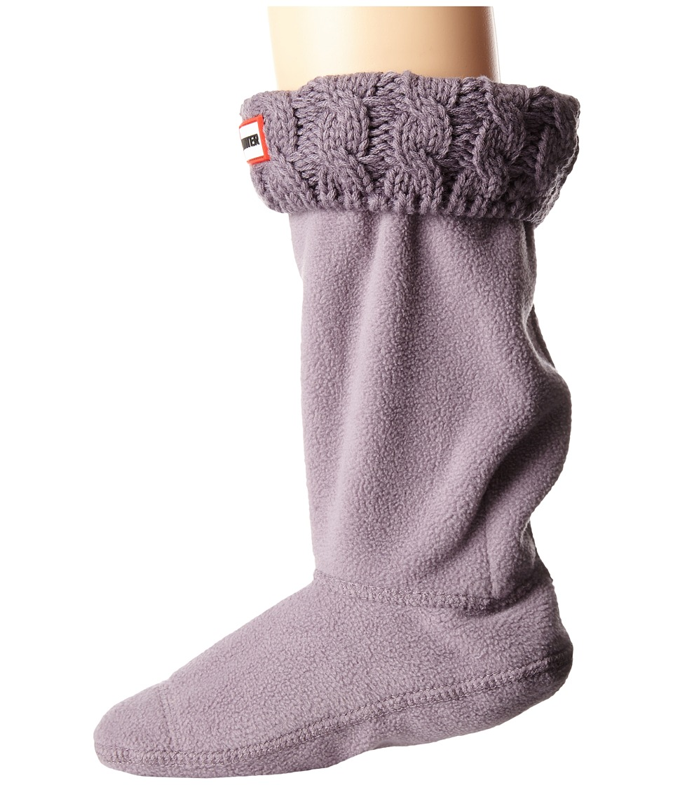 Hunter Kids 6 Stitch Cable Boot Sock Toddler/Little Kid/Big Kid Thundercloud Girls Shoes