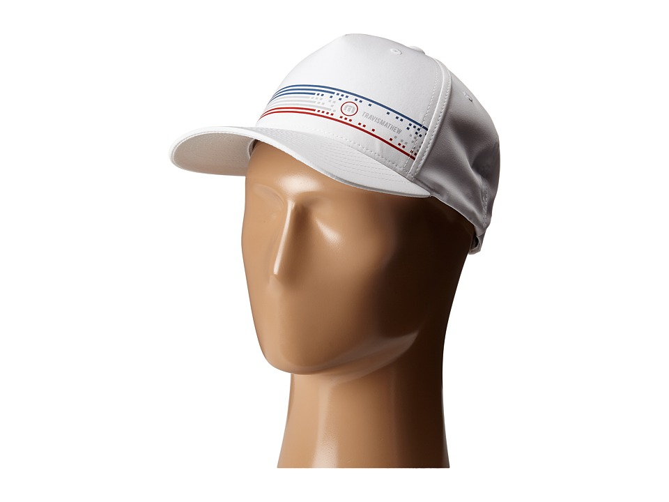 TravisMathew RED Dandy Cap White Caps