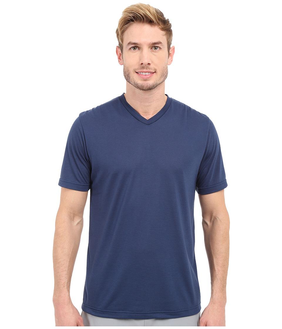 TravisMathew RED Uncle Bob Shirt Insignia Blue Mens Workout
