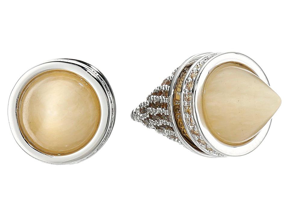 Eddie Borgo Twin Cone Stud Silver 2 Earring