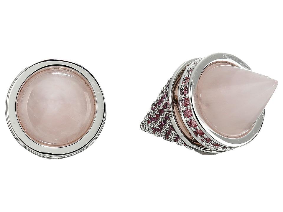 Eddie Borgo Twin Cone Stud Silver Earring