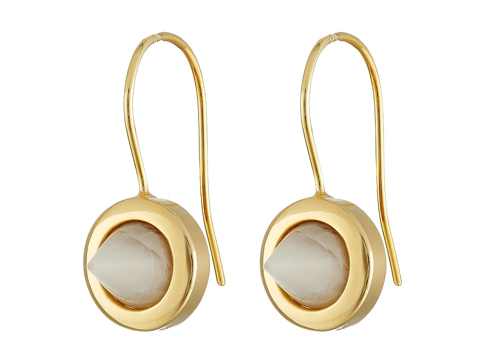 Eddie Borgo Gemstone Cone Drop Earrings Gold Earring