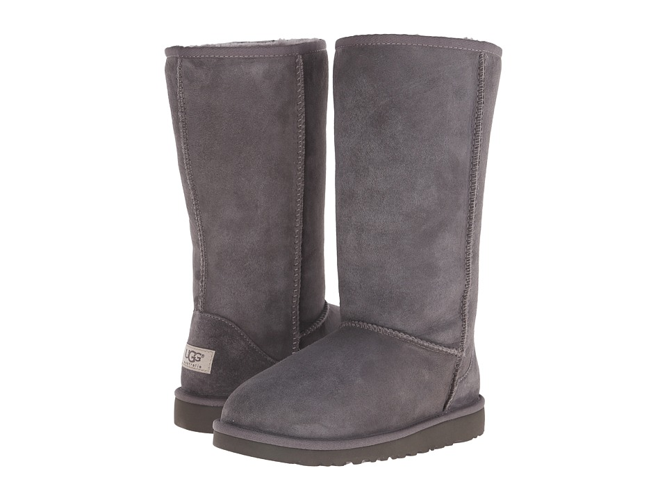 UGG Kids Classic Tall Big Kid Grey Girls Shoes